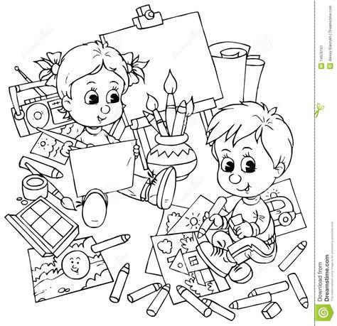 Mao Band Sponge Bob de kinderen trekken stock illustratie afbeelding