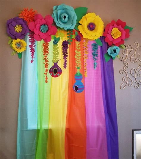 six table cloths diy trolls birthday foam paper flowers and six