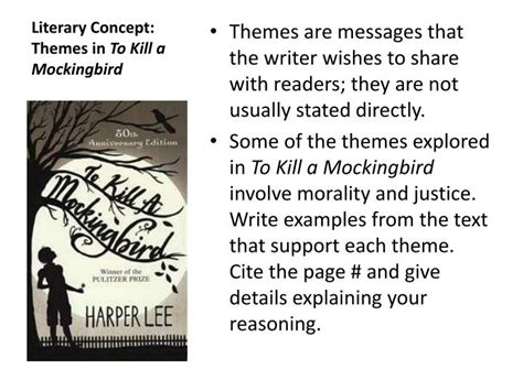 themes in to kill a mockingbird growing up ppt name