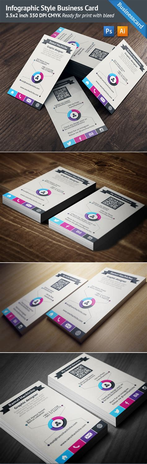 Free Card Templates Photoshop Cs5 by Infographic Style Business Card Template On Behance