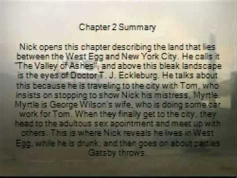 symbolism great gatsby chapter 2 great gatsby chapter 2 project youtube