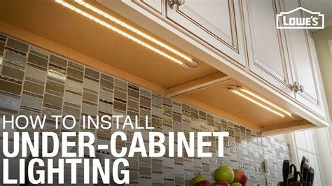 install  cabinet lighting