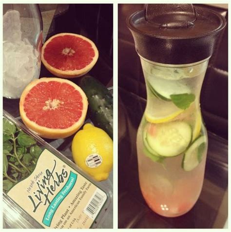 Grapefruit Cucumber Detox Water by Detox Water Lemon Grapefruit Mint Cucumber Detox