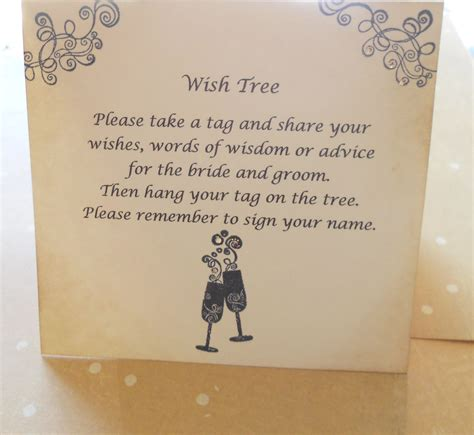 how to make wishing cards wish card sign wedding wish tree by