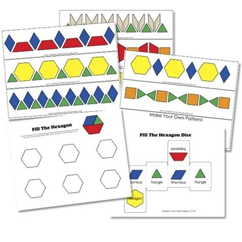 pattern blocks math games free pattern block activity printables math pinterest