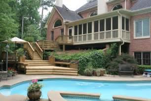 deck pergola and porch designs for pools st louis decks screened porches pergolas by