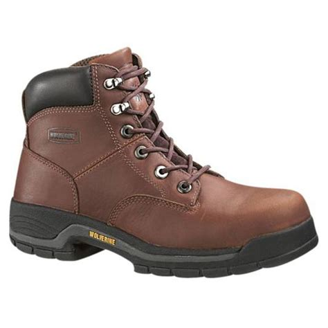 womans steel toe boots s wolverine 174 harrison steel toe boots brown