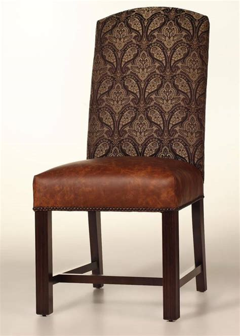 Leather Dining Room Chairs With Nailhead Trim Cambridge Dining Chair With Leather Seat And Nailhead Trim