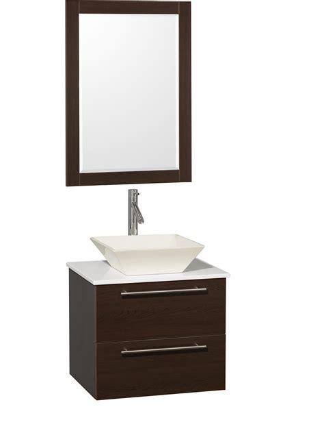 Small Bathroom Vanity With Vessel Sink 24 Quot Amare Single Vessel Sink Vanity Espresso Bathgems