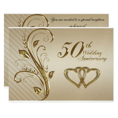 Wedding Anniversary Invitation Cards by Golden Wedding Anniversary Invitation Card Zazzle