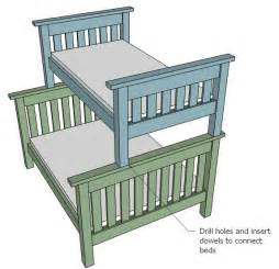 Plans For Building A Twin Over Full Bunk Bed by Ana White Twin Over Full Simple Bunk Bed Plans Diy Projects
