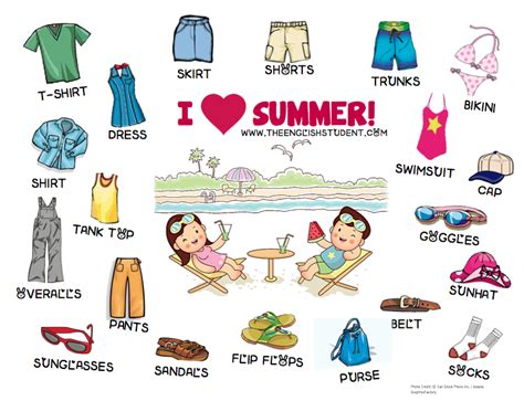 clothing vocabulary fun english learning site for students and teachers the