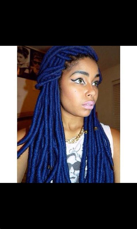 hair style with color yarn blue yarn braids i do not own rights to this photo
