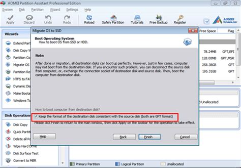 format gpt ssd transfer windows 10 from hdd to ssd with aomei partition