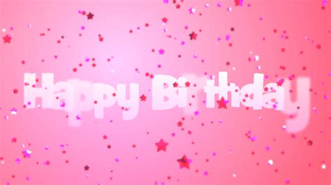 background for messages happy birthday message with pink falling on a pink