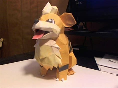 growlithe papercraft by meercat122 on deviantart
