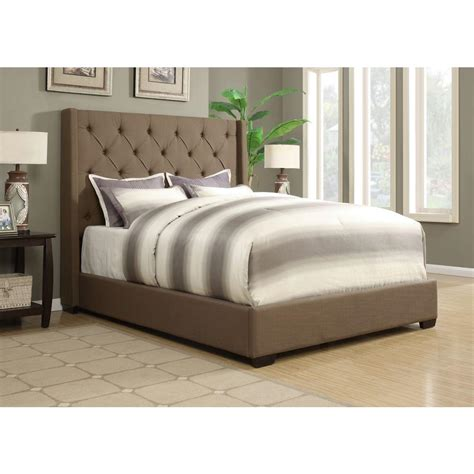 queen upholstered bed pulaski furniture shelter taupe queen upholstered bed ds