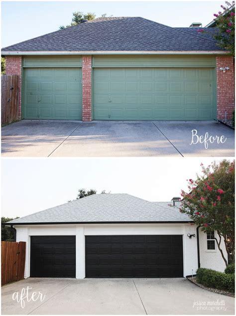 garage door makeover painted orange brick a stunning