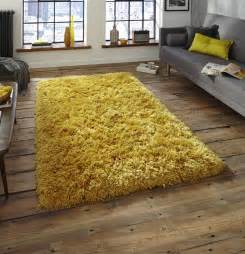 Mustard Area Rug Nordic Thick Shaggy Rug Mustard Yellow Martin Phillips