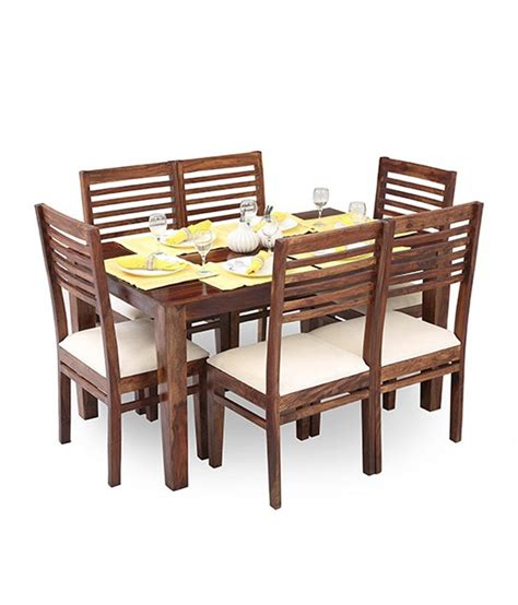 ethnic india madrid 6 seater sheesham wood dining ethnic india vaaz 6 seater dining set in sheesham wood available at snapdeal for rs 26841