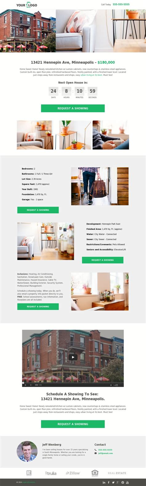 5 Real Estate Templates For Building High Converting Landing Pages Leadpages Blog Real Estate Landing Page Template Free