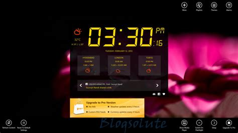 windows 8 alarm clock app with weather and integration
