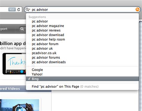Safari Search From Address Bar Change Safari S Search Engine Pc Advisor