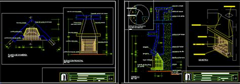 chimney wooden window plant stand dwg detail  autocad