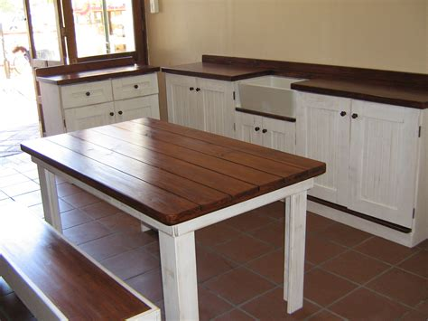 On Kitchen Table by Custom Made Cupboards Tables Etc