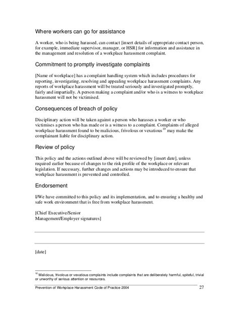 bullying and harassment policy template images templates