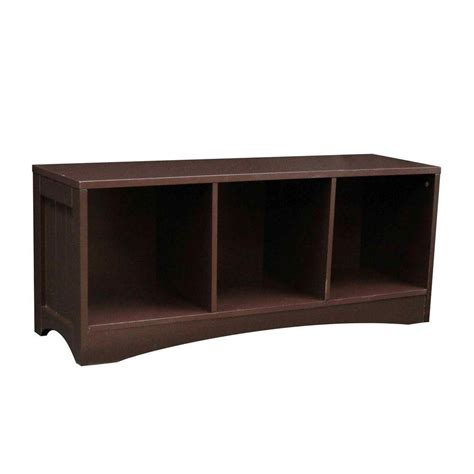 bench with cubby storage riverridge home transitional wood storage bench with 3