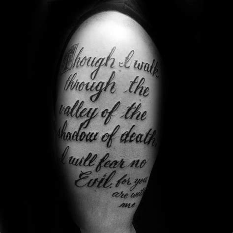 valley of death tattoo designs 40 psalm 23 designs for bible verse ink ideas