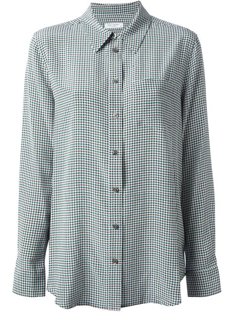 houndstooth pattern clothes equipment houndstooth pattern shirt in green lyst