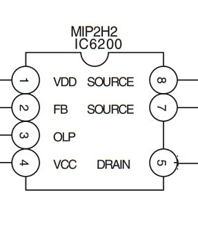 Ic Mip2h2 Dip mip2h2 pinouts integrated circuit power supply ic
