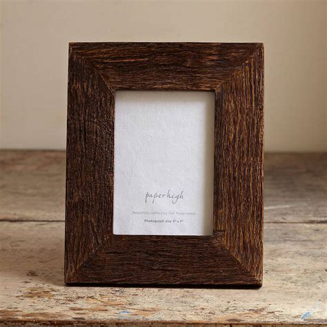 wood rustic handmade photo frame by paper high