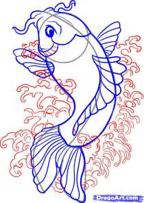 how to draw doodle draw how to draw a koi step by step fish animals free
