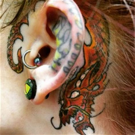 dragon tattoo behind ear behind the ear tattoos best tattoo ideas gallery