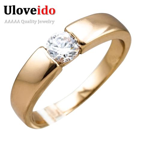 uloveido 2016 gold plated micro pave mens cheap