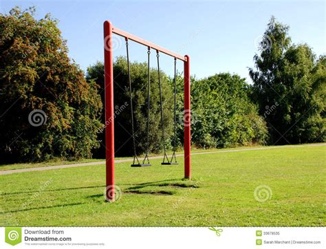 swing at the park two swings at the park royalty free stock photo image