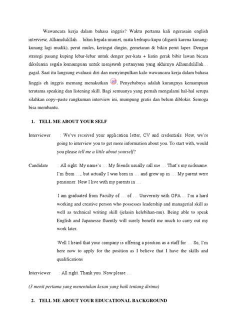 application letter yang baik wawancara kerja dalam bahasa inggris application letter