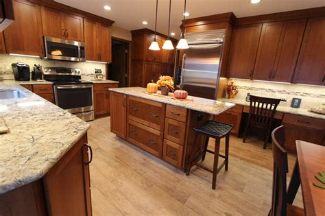 attractive Countertops For Cherry Cabinets #1: transitional-kitchen.jpg