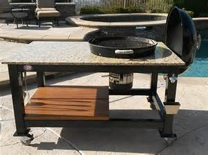 weber tisch brian alan tables custom built kamado style cooker tables