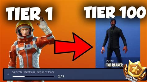 fortnite tier 100 challenges tier 1 tier 100 challenge fortnite battle pass