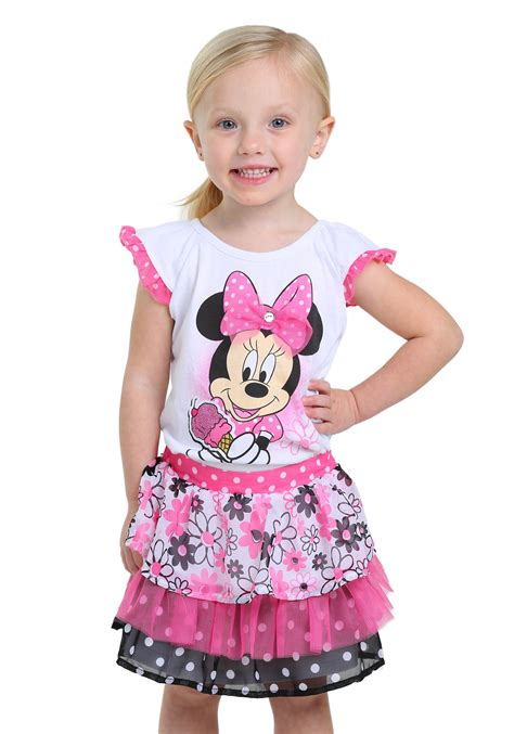 Dress Minny minnie mouse scooter dress set for
