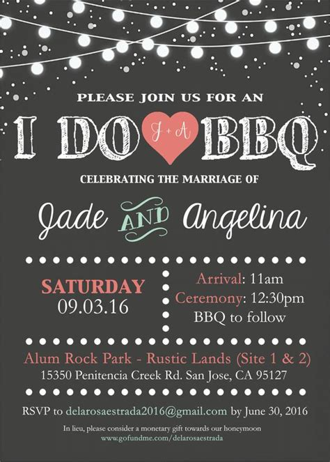Backyard Bbq Wedding Invitation Wording I Do Bbq Wedding Invitation By Me Designs By J9