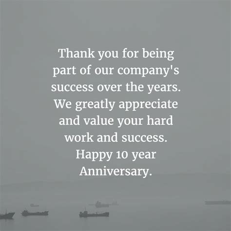 10 Year Work Anniversary by Work Anniversary Quotes For 10 Years Enkiquotes