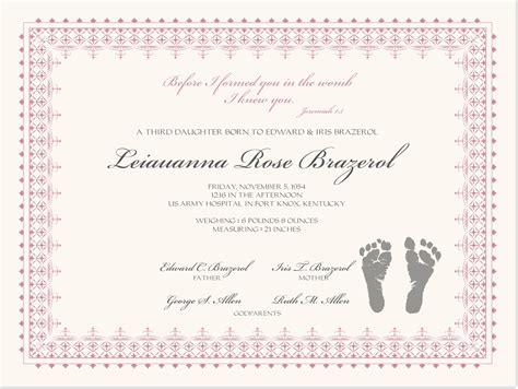 baby christening certificate template birth certificate with baby footprints baby certificate
