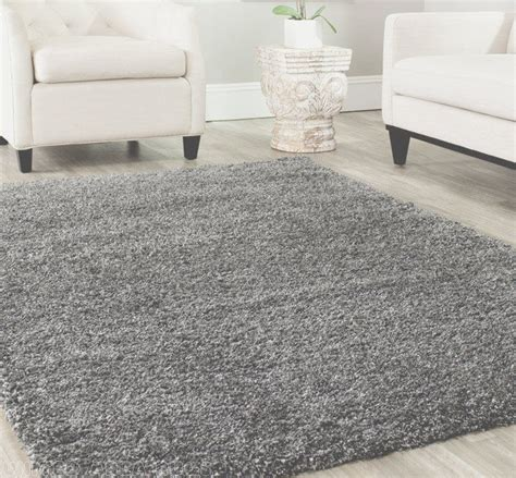 8x10 Gray Area Rug 8x10 Area Rug Shaggy Shag Gray 2 Inch Plus Thick Heavy Size 7 3 Quot X10 New Ebay