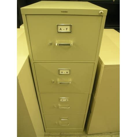 hon 4 drawer beige locking vertical filing cabinet