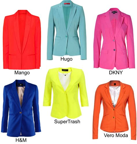 different colours of blazers priletai